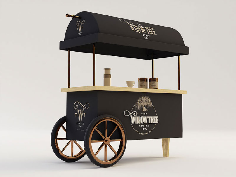 Coffee cart design for Coffee cart design