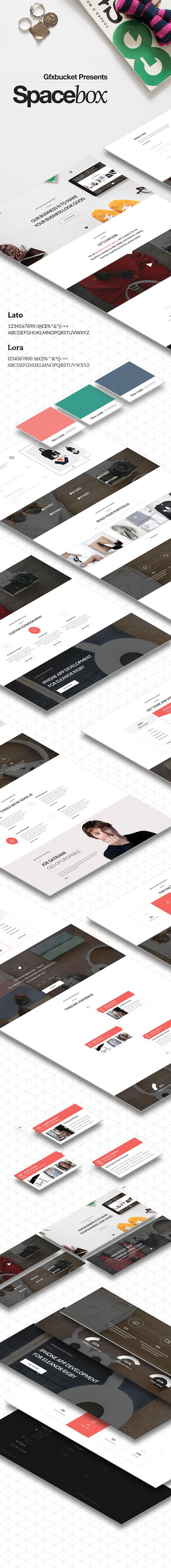 Spacebox - Modern & Creative PSD Theme